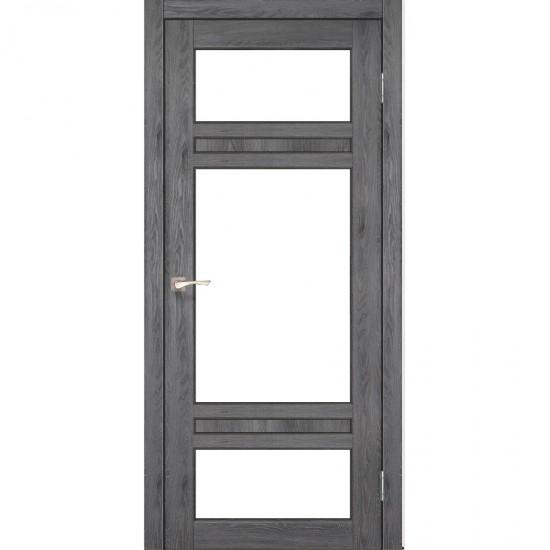 Дверь Tivoli TV-05 со стеклом сатин Дуб марсала