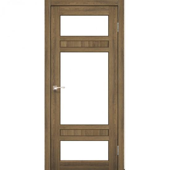 Дверь Tivoli TV-05 со стеклом сатин Дуб тобакко