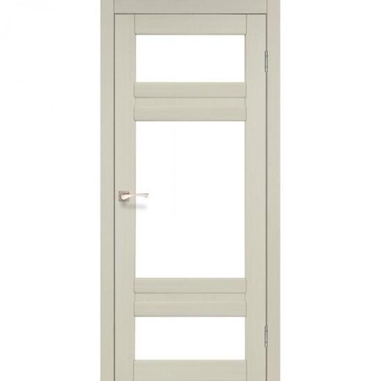 Дверь Tivoli TV-05 со стеклом бронза Дуб беленый