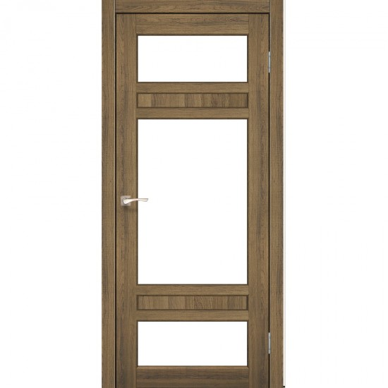 Дверь Tivoli TV-05 со стеклом бронза Дуб браш