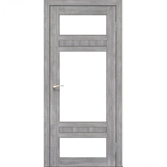 Дверь Tivoli TV-05 со стеклом бронза Эш-вайт