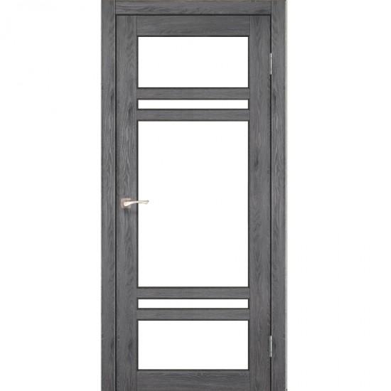 Дверь Tivoli TV-06 со стеклом сатин Дуб марсала