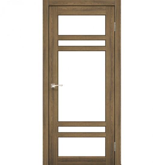 Дверь Tivoli TV-06 со стеклом сатин Дуб тобакко