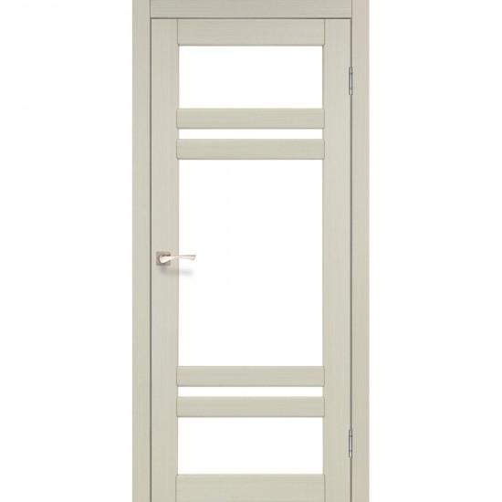 Дверь Tivoli TV-06 со стеклом бронза Дуб беленый