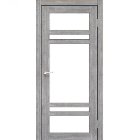 Дверь Tivoli TV-06 со стеклом бронза Эш-вайт