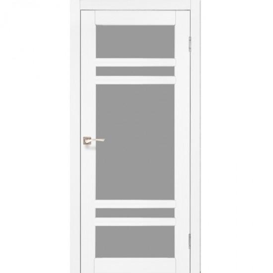 Дверь Tivoli TV-06 со стеклом бронза Белый перламутр