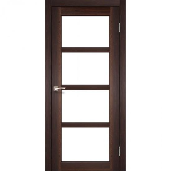 Дверь Aprica AP-02 со стеклом сатин Орех