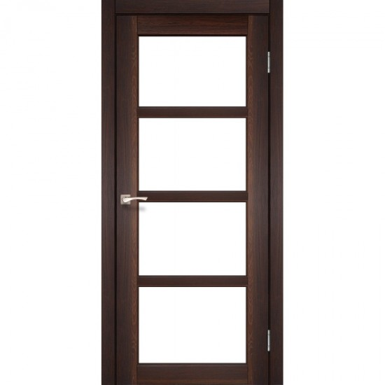 Дверь Aprica AP-02 со стеклом сатин Дуб марсала