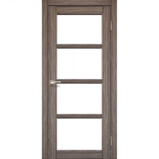 Дверь Aprica AP-02 со стеклом сатин Дуб тобакко