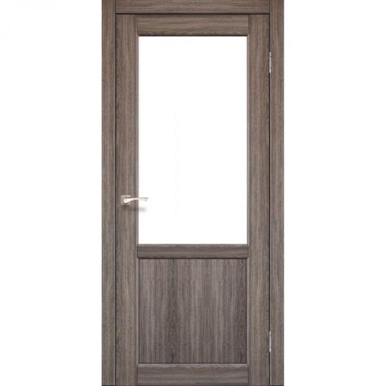Дверь Palermo PL-02 со стеклом сатин Дуб грей