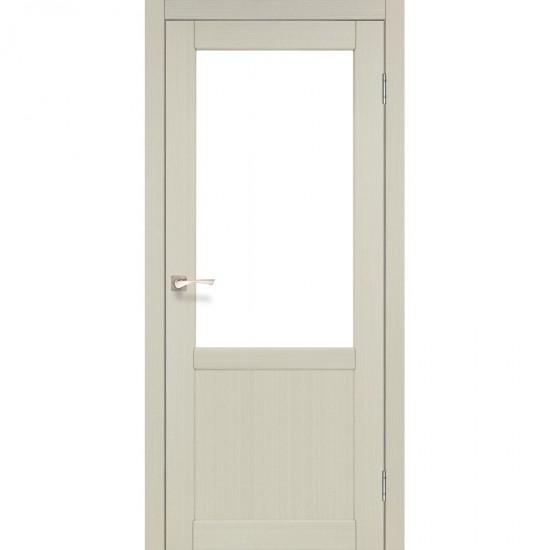 Дверь Palermo PL-02 со стеклом сатин Белый перламутр