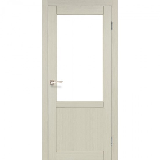 Дверь Palermo PL-02 со стеклом бронза Дуб беленый