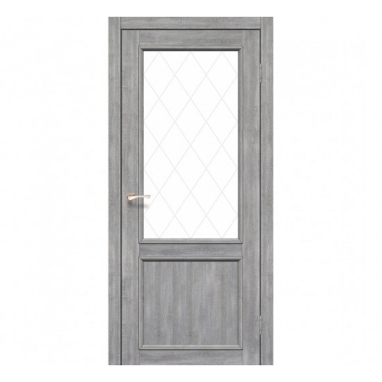 Дверь Palermo PL-02 со стеклом бронза Эш-вайт