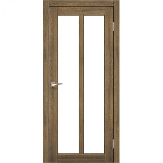 Дверь Torino TR-02 со стеклом сатин Дуб тобакко