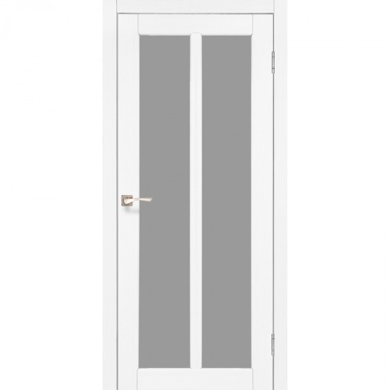 Дверь Torino TR-02 со стеклом бронза Белый перламутр