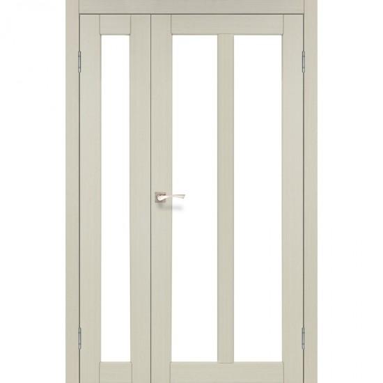 Дверь Torino TR-04 со стеклом сатин Дуб беленый