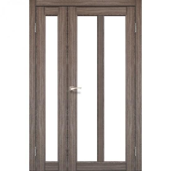 Дверь Torino TR-04 со стеклом сатин Дуб грей