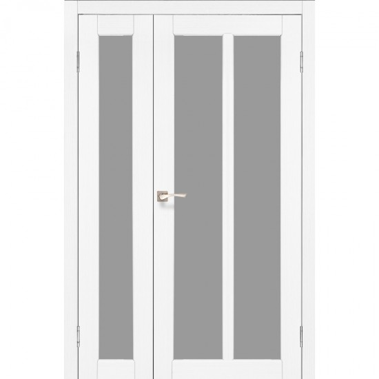 Дверь Torino TR-04 со стеклом сатин Ясень белый