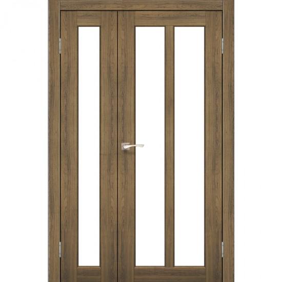 Дверь Torino TR-04 со стеклом бронза Дуб тобакко