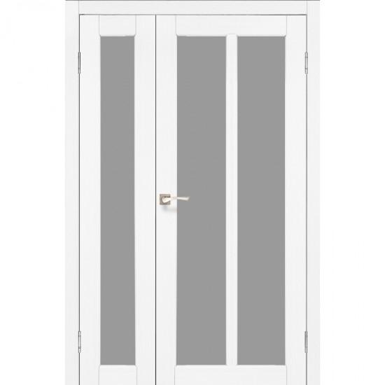 Дверь Torino TR-04 со стеклом бронза Белый перламутр