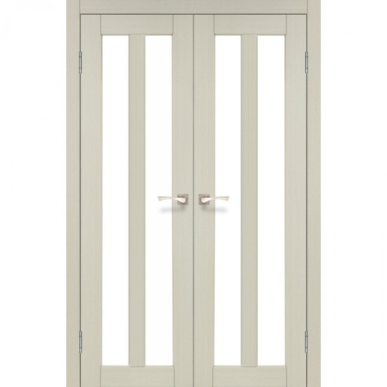 Дверь Torino TR-05 со стеклом сатин Дуб беленый