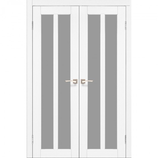 Дверь Torino TR-05 со стеклом сатин Ясень белый