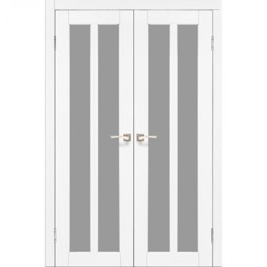 Дверь Torino TR-05 со стеклом сатин Белый перламутр