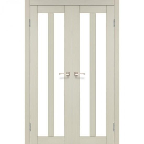 Дверь Torino TR-05 со стеклом бронза Дуб беленый