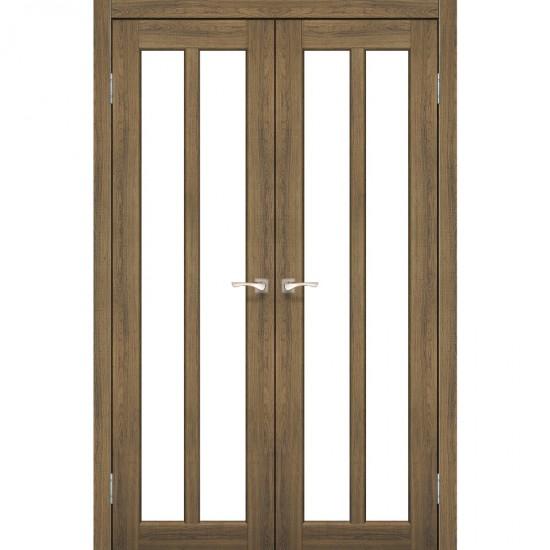 Дверь Torino TR-05 со стеклом бронза Дуб браш