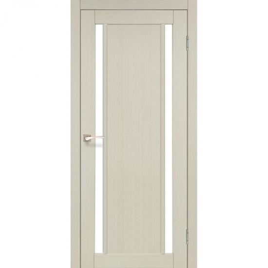 Дверь Oristano OR-02 со стеклом бронза Дуб беленый
