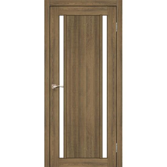 Дверь Oristano OR-02 со стеклом бронза Дуб тобакко