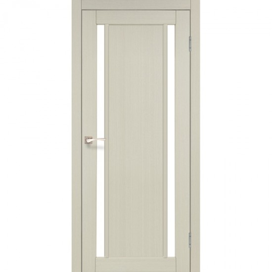 Дверь Oristano OR-02 со стеклом бронза Белый перламутр