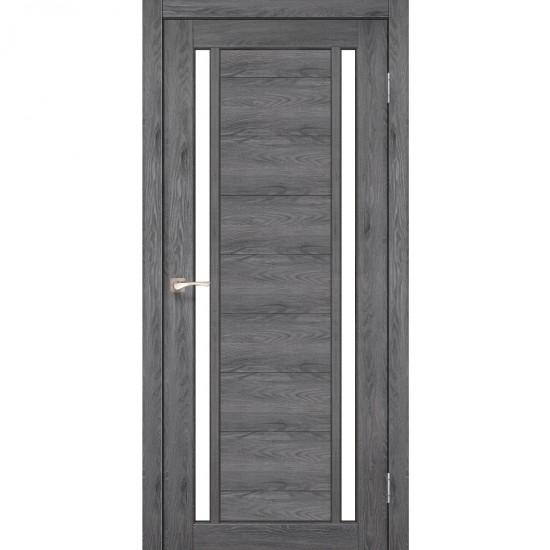 Дверь Oristano OR-04 со стеклом сатин Дуб марсала