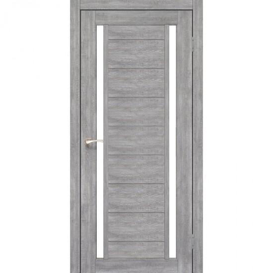 Дверь Oristano OR-04 со стеклом бронза Эш-вайт