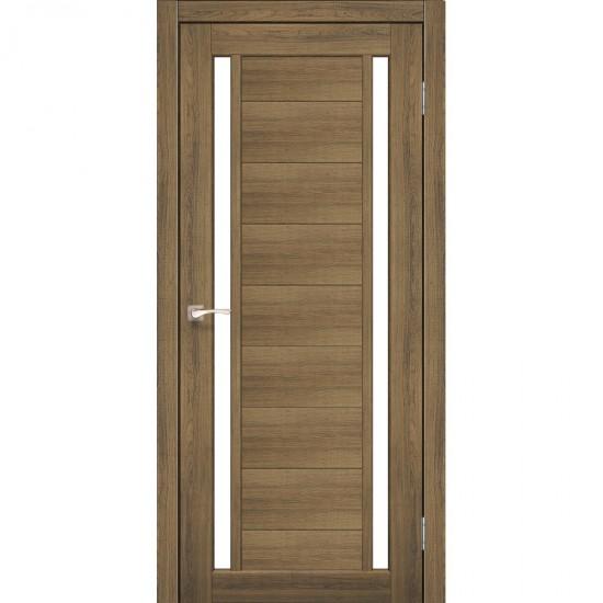 Дверь Oristano OR-04 со стеклом бронза Сталь кортен