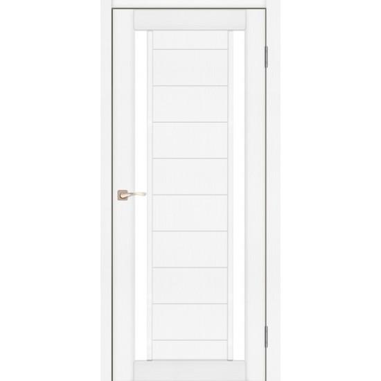 Дверь Oristano OR-04 со стеклом бронза Белый перламутр