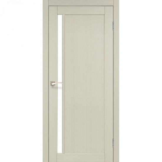 Дверь Oristano OR-06 с черным стеклом Дуб беленый