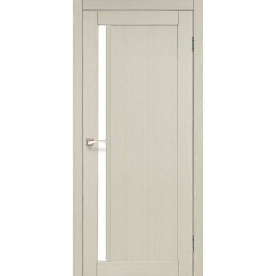 Дверь Oristano OR-06 с черным стеклом Белый перламутр