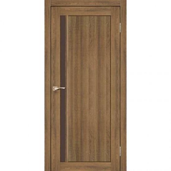 Дверь Oristano OR-06 со стеклом бронза Дуб тобакко