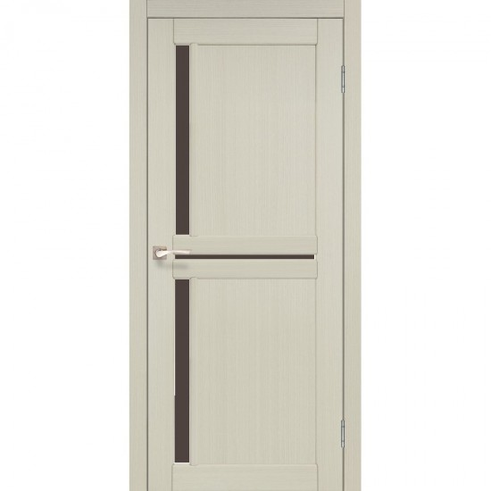 Дверь Scalea SC-02 с черным стеклом Дуб беленый