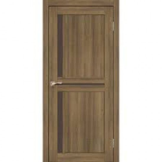 Дверь Scalea SC-02 со стеклом бронза Дуб тобакко
