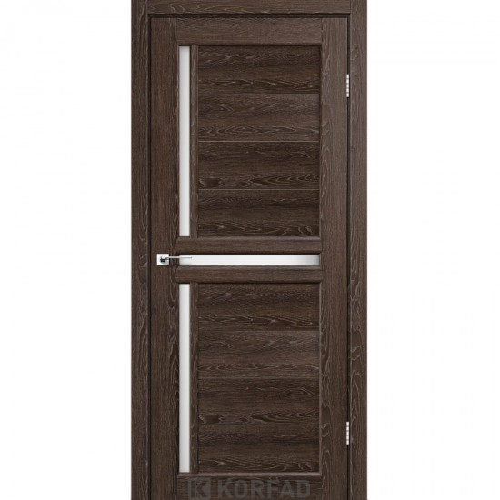 Дверь Scalea SC-03 со стеклом сатин Дуб марсала