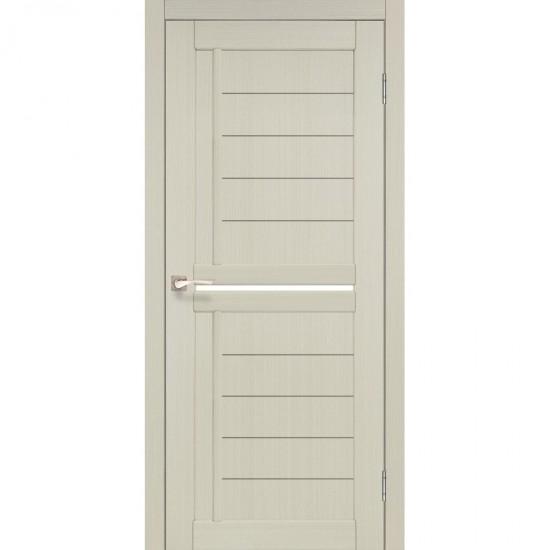 Дверь Scalea SC-03 со стеклом сатин Ясень белый