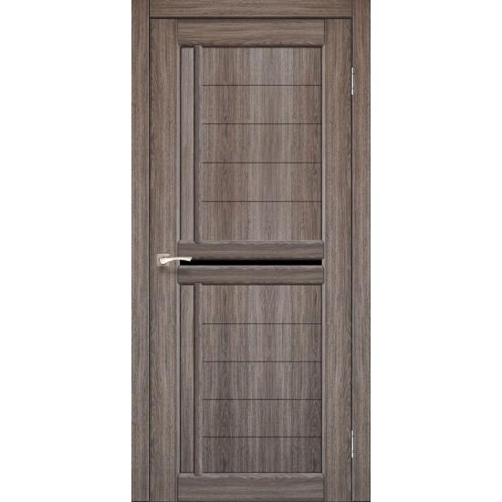 Дверь Scalea SC-03 с черным стеклом Орех