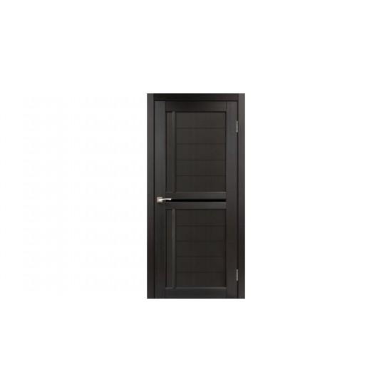 Дверь Scalea SC-03 с черным стеклом Дуб марсала