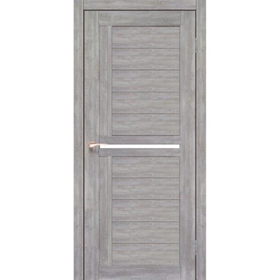 Дверь Scalea SC-03 с черным стеклом Эш-вайт