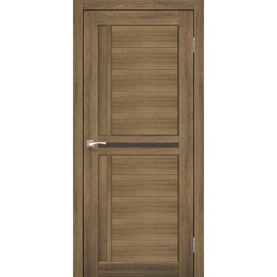 Дверь Scalea SC-03 с черным стеклом Дуб тобакко
