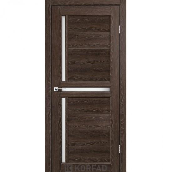Дверь Scalea SC-03 со стеклом бронза Дуб марсала