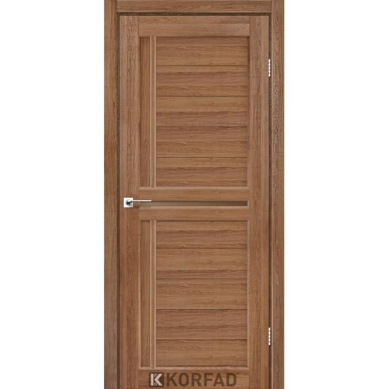 Дверь Scalea SC-03 со стеклом бронза Дуб тобакко