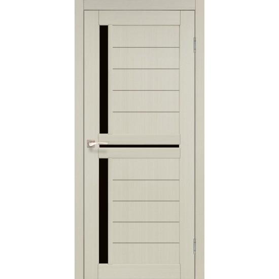 Дверь Scalea SC-04 с черным стеклом Дуб беленый